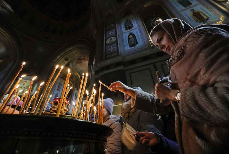 Russian Orthodox Christmas service